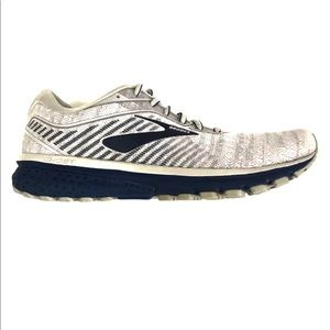 42.5 Brooks ghost 12 Road Running Shoes Light Grey & Navy Blue  Cushion Neutral